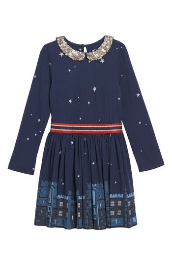 Girl's Mini Boden Party Jersey Dress
