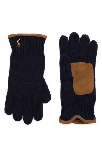 Polo Ralph Lauren Classic Luxe Merino Wool Gloves, Size One Size - Blue