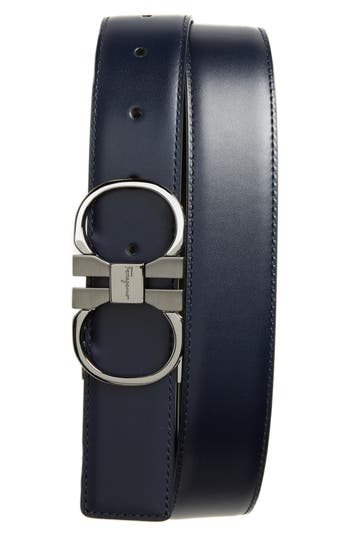 Men's Big & Tall Salvatore Ferragamo Double Gancio Leather Belt