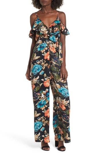 Band Of Gypsies PEONY PRINT JUMPSUIT