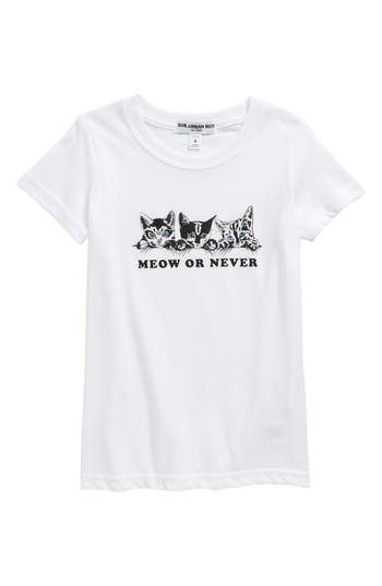 Girl's Sub Urban Riot Meow Or Never Graphic Tee, Size S (10) - White