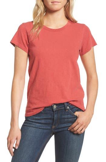 Women's Rag & Bone/jean The Tee, Size X-Small - Red