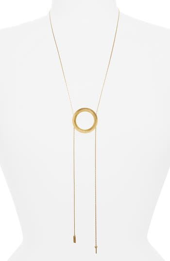 Women's Madewell Sliding Ring Bolo Necklace
