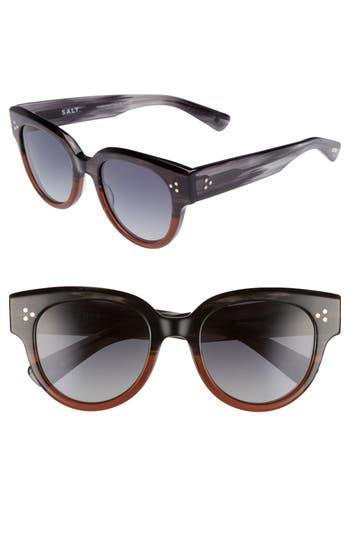 Salt 52Mm Polarized Sunglasses - Grey/ Cinnamon