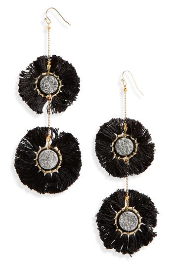 Panacea Double Druzy Fringe Drop Earrings AyFgbt