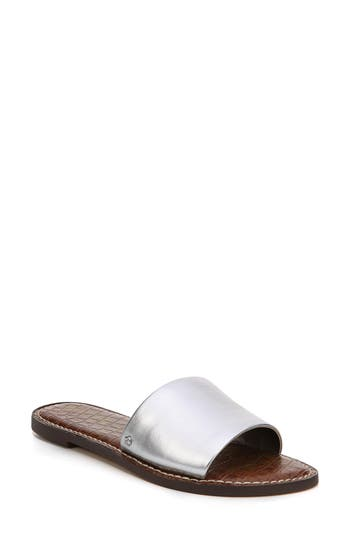 Women's Sam Edelman Gio Slide Sandal, Size 8 M - Metallic