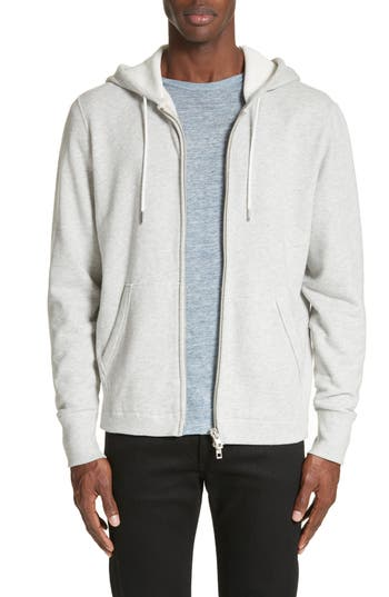 Rag & Bone Standard Issue Zip Hoodie, Grey