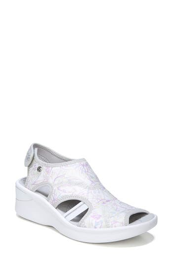 Women's Bzees Spirit Sandal, Size 10 W - White