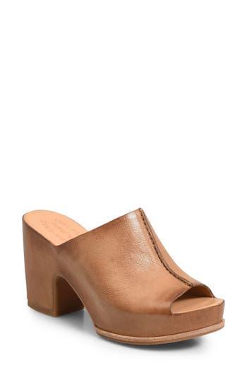 Vintage Style Shoes, Vintage Inspired Shoes Womens Kork-Ease Santa Ana Platform Mule Size 11 M - Brown $164.95 AT vintagedancer.com