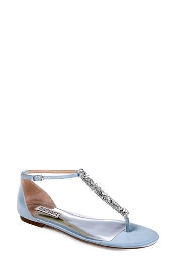 Badgley Mischka Holbrook T-Strap Sandal, Blue