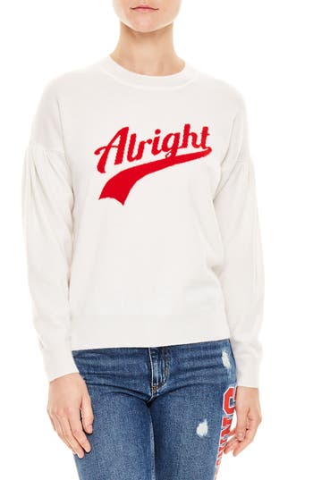 Sandro Alright Wool & Cashmere Sweater, White