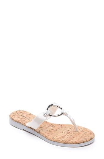 Bernardo Footwear Matrix Flip Flop, Metallic