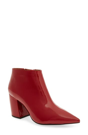 Jeffrey Campbell Total Ankle Bootie- Red