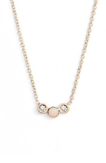 Zoe Chicco Diamond And Opal Curved Pendant