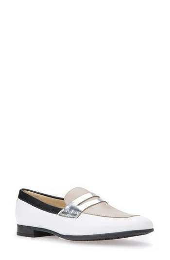 Geox Marlyna Penny Loafer, White