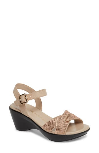 Women's Athena Alexander Florence Wedge Sandal, Size 5 M - Metallic