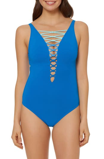 Bleu By Rod Beattie One-Piece Swimsuit, Blue