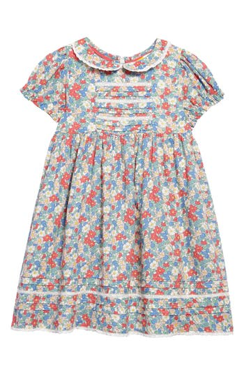 1940s Children's Clothing: Girls, Boys, Baby, Toddler Toddler Girls Mini Boden Nostalgic Woven Dress Size 3-4Y - Red $52.00 AT vintagedancer.com