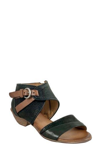 Women's Miz Mooz Chatham Textured Sandal, Size 41 EU - Black