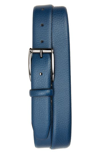 Ted Baker London Hanoy Leather Belt, Teal