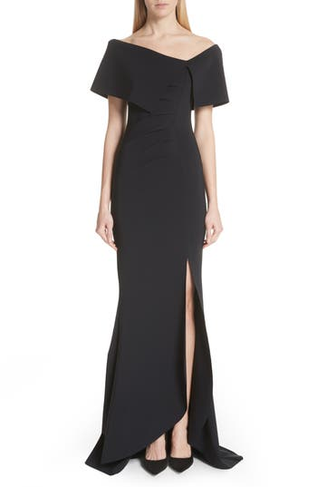 Chiara Boni La Petite Robe Asymmetric Neck Mermaid Gown
