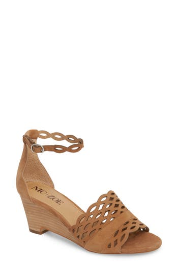 Nic+Zoe Flora Wedge Sandal, Brown