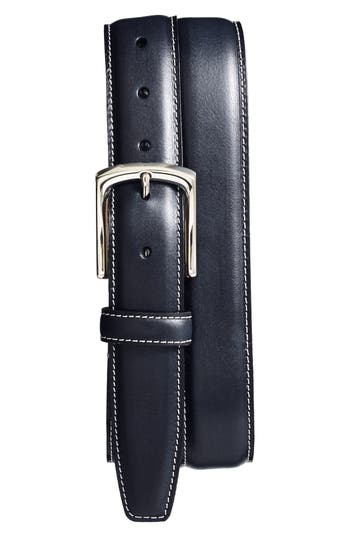 Big & Tall Torino Belts Burnished Leather Belt, Navy