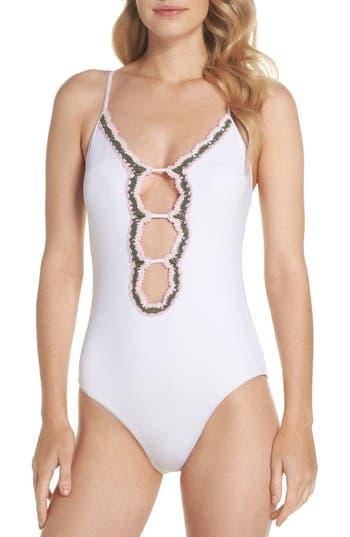 Becca Medina One-Piece Swimsuit, White