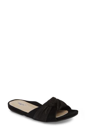 T Tahari Lauren Slide Sandal, Black
