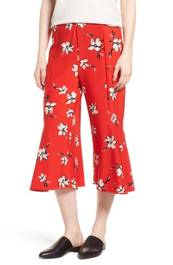 Lysse Quin Flare Crop Leggings, Red