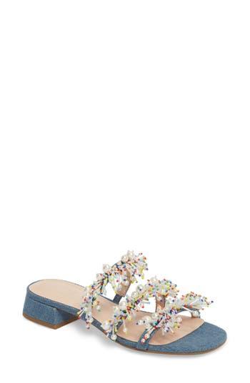 Cecelia New York Fes Embellished Slide Sandal, Blue