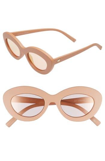 Le Specs Fluxus 4m Cat Eye Sunglasses - Matte Ginger