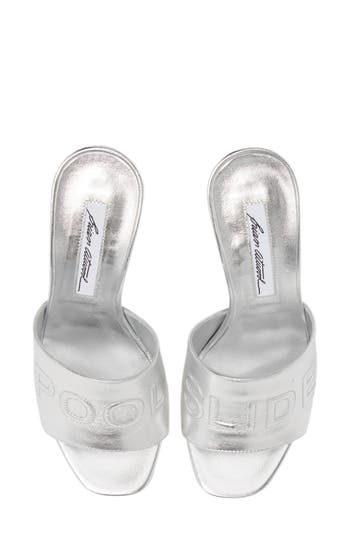 Brian Atwood Spiagga Slide Sandal - Grey