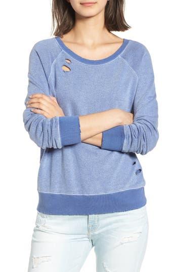 N:philanthropy Belize Deconstructed Sweatshirt, Blue