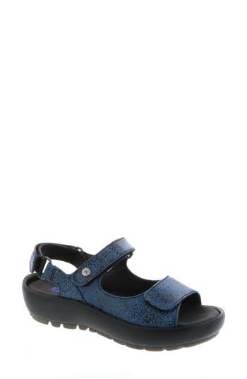 Women's Wolky Rio Sandal, Size 10-10.5US / 42EU - Blue