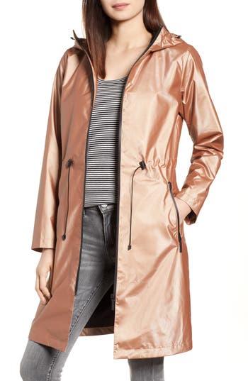 Bernardo Metallic Rain Jacket, Pink