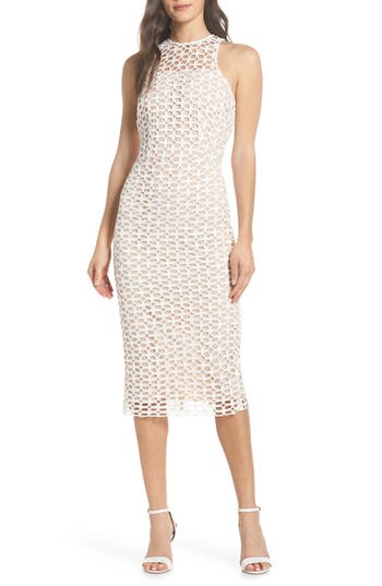 Cooper St Karlie Lace Midi Dress, White