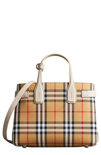 Burberry Small Banner Tote - Grey
