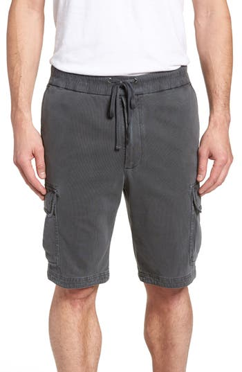 James Perse Heavy Jersey Cargo Shorts, Grey