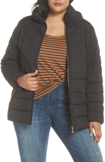 Plus Size Bernardo Microtouch Jacket, Black