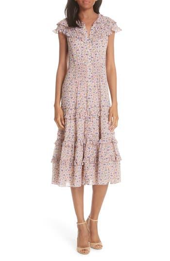 Rebecca Taylor Zelma Floral Dress, Pink
