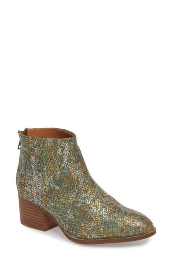 Seychelles Floodplain Block Heel Bootie, Metallic