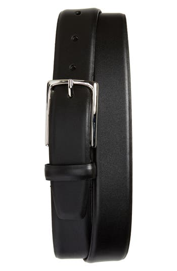 Big & Tall Nordstrom Shop Pullman Leather Belt, Black