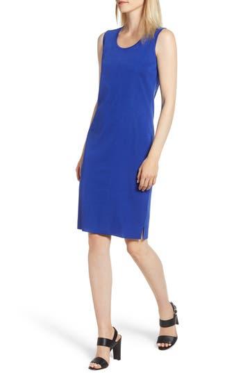Ming Wang Knit Sheath Dress, Blue