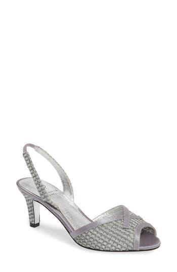 Adrianna Papell Jolene Glitter Slingback Sandal- Metallic