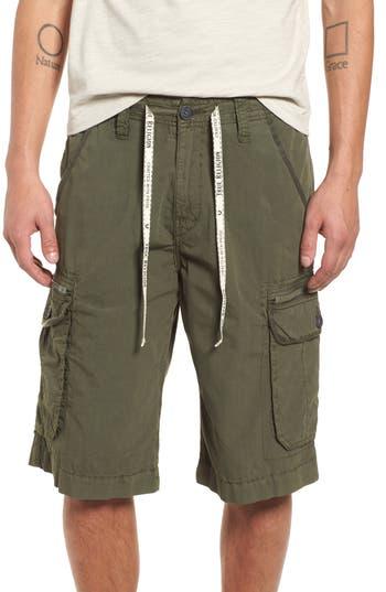 True Religion Brand Jeans Terrain Cargo Shorts, Green