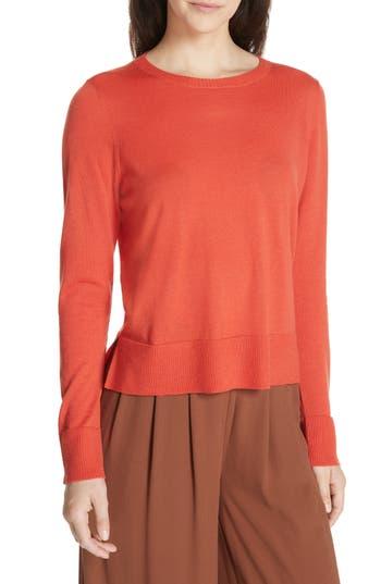 Eileen Fisher Boxy Merino Wool Sweater, Red