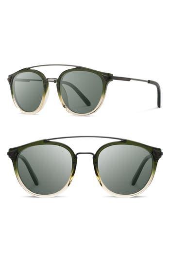 Shwood Kinsrow 4m Polarized Round Sunglasses - Mojito/ G15