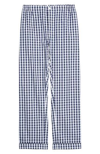 Sleepy Jones Marcel Pajama Pants, Blue