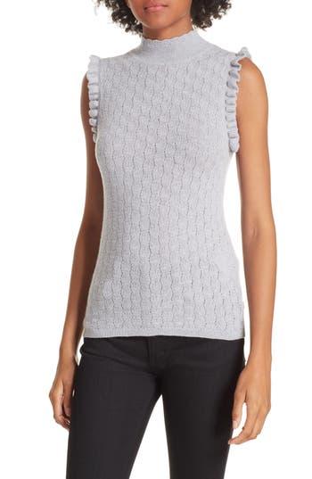 Rebecca Taylor Sleeveless Merino Wool Sweater